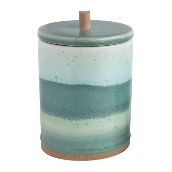 Green Stoneware Canisters