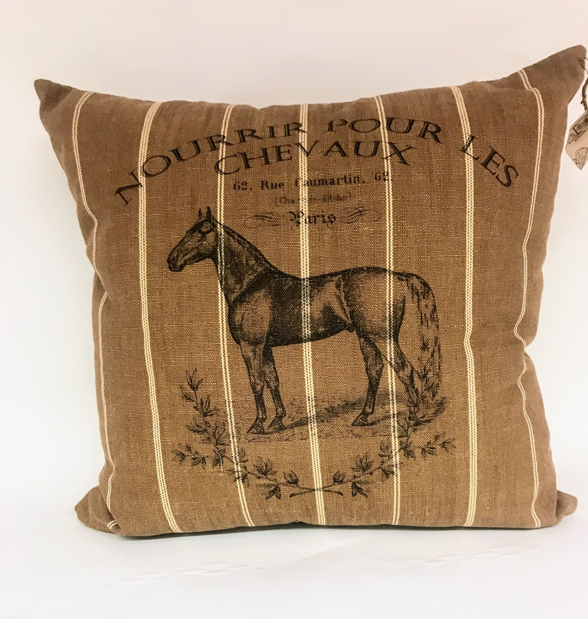 French Equine Pillow