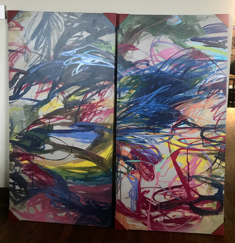 """Celebration of Life"" 1 and 2 Canvas Art"