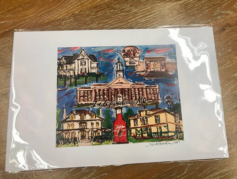 Artistic Print of the Independence Square by Heidi Hensley
