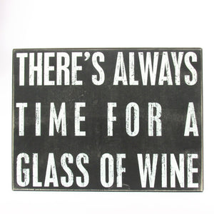 Glass of Wine Wooden Sign