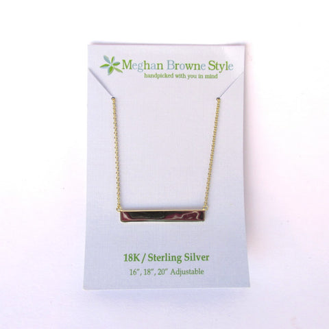 Baily Gold Bar Necklace