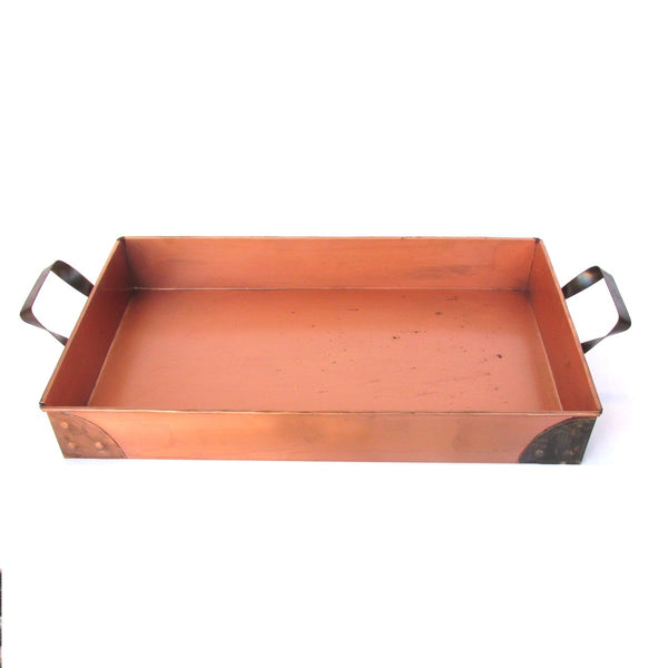 Copper Rectangle Tray with Handles