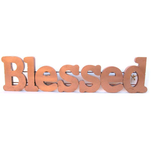 Blessed Copper Sign
