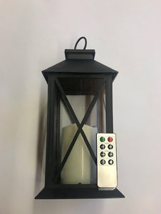 Large Lantern with Remote LED Candle