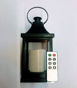 Small Lantern w/Remote LED Candle