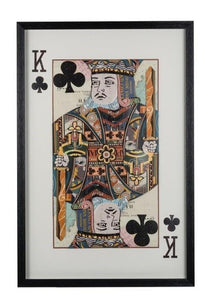 King of Clubs Framed Art