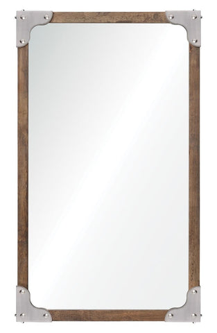 Advocate Wood and Metal Wall Mirror