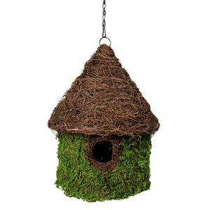 Moss & Wicker Bungalow Birdhouse