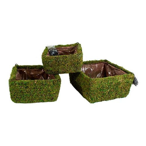 Moss-Woven Square Hanging Basket