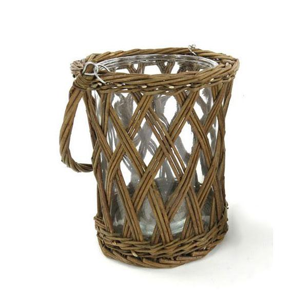Wicker Handled Vase