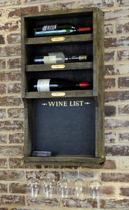 Wine Rack with Chalkboard