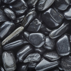 Black Polished Decorative Pebbles