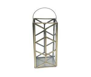 Large Brass & Glass Candleholder