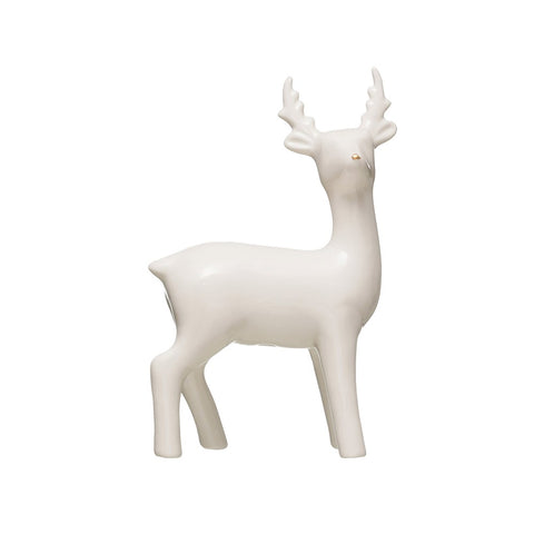 Ceramic Deer with Gold Nose