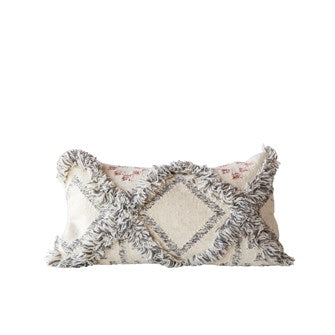 Wool Fringed Pillow