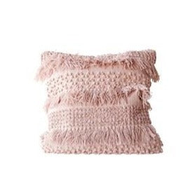 Pale Pink Fringe Pillow