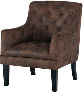 Drakelle Accent Distressed Tufted Chair -Brown