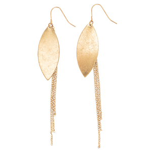Leaf & Chain Earrings