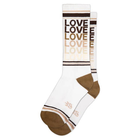 "Gumball Poodle ""Love"" Gym Socks- Brown"