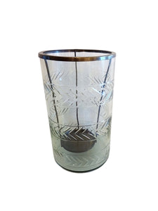 Etched Glass Hurricane (Large)