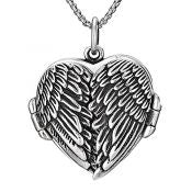 Feather Heart Locket