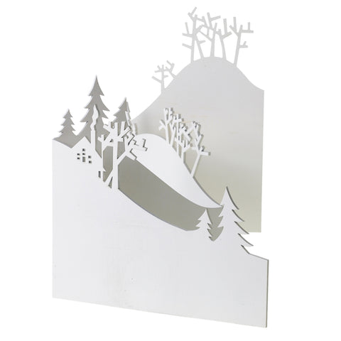Holiday Swedish Forest Hinged Decor Screen