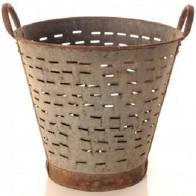 Galvanized Olive Bucket