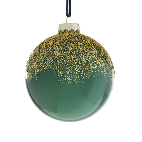 Gold & Green Dust Christmas Ornament