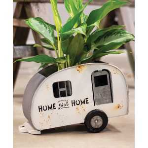 Home Sweet Home Camper Planter