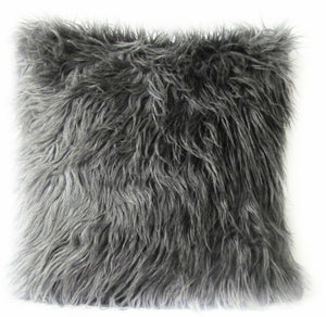 Gray Fur Pillow