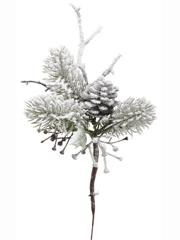 Snowy Pine Spray