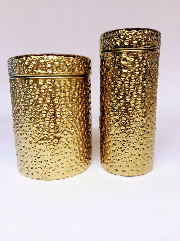 Gold Moonscape Canister