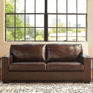Morelos Brown Leather Sofa