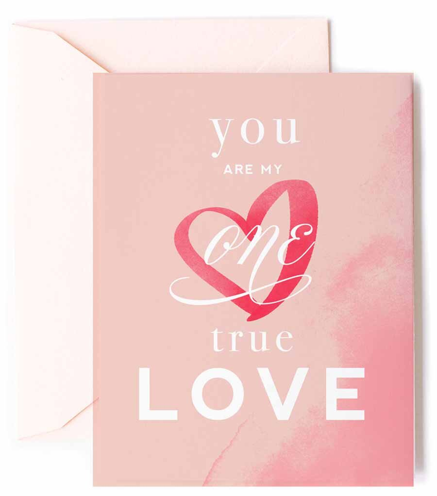 One True Love Greeting Card