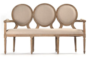 Medallion Oval Back Settee