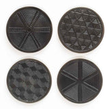 Tribal Patterned Coaster Set, Boxed