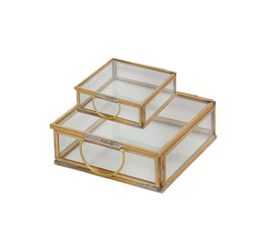 Square Brass & Glass Box