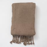 Luxurious Organic Knit Throw, Boxed