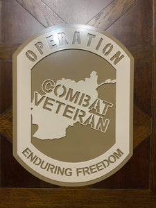 OEF Combat Veteran Combat Shield™ DELUXE Wall Display