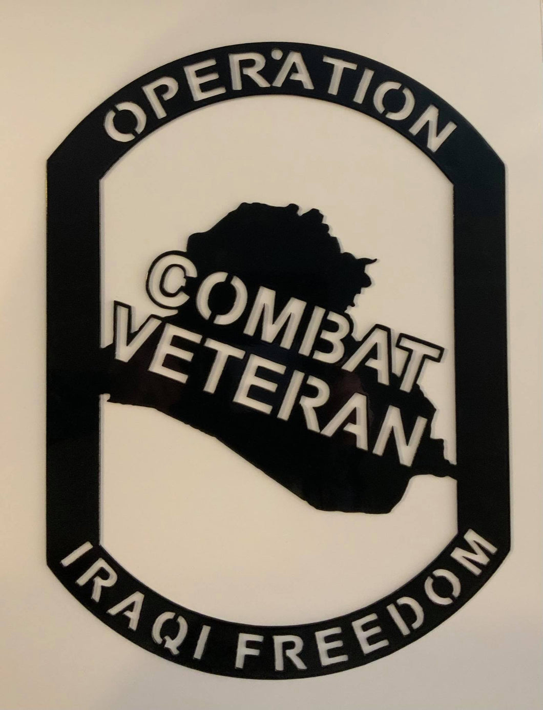 Operation Iraqi Freedom Combat Veteran Combat Shield™ Wall Display