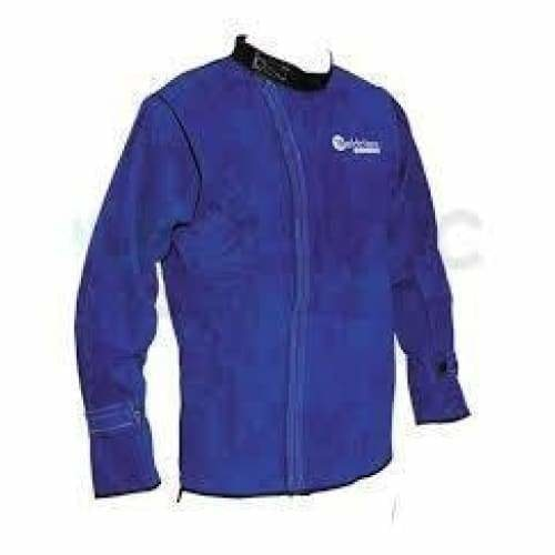 Blue leather welders jacket super heavy duty 2XL - Leather