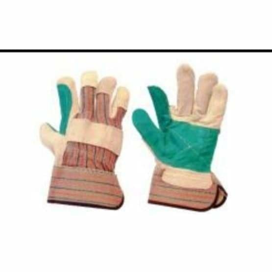 Defender superior green double palm rigger glove - Safety Mo