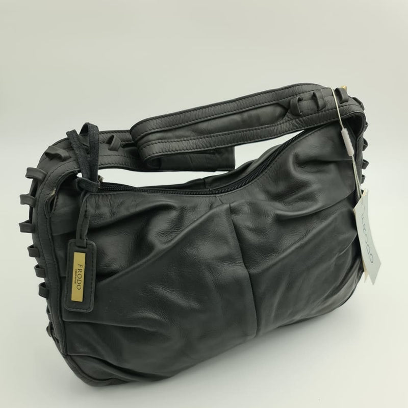 FRODO Black leather hand bag - Safety Mo