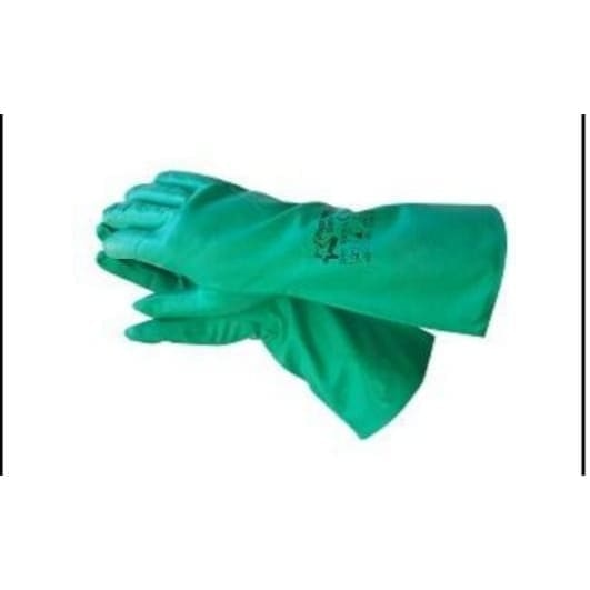 Green Nitrile Glove 33cm - Safety Mo
