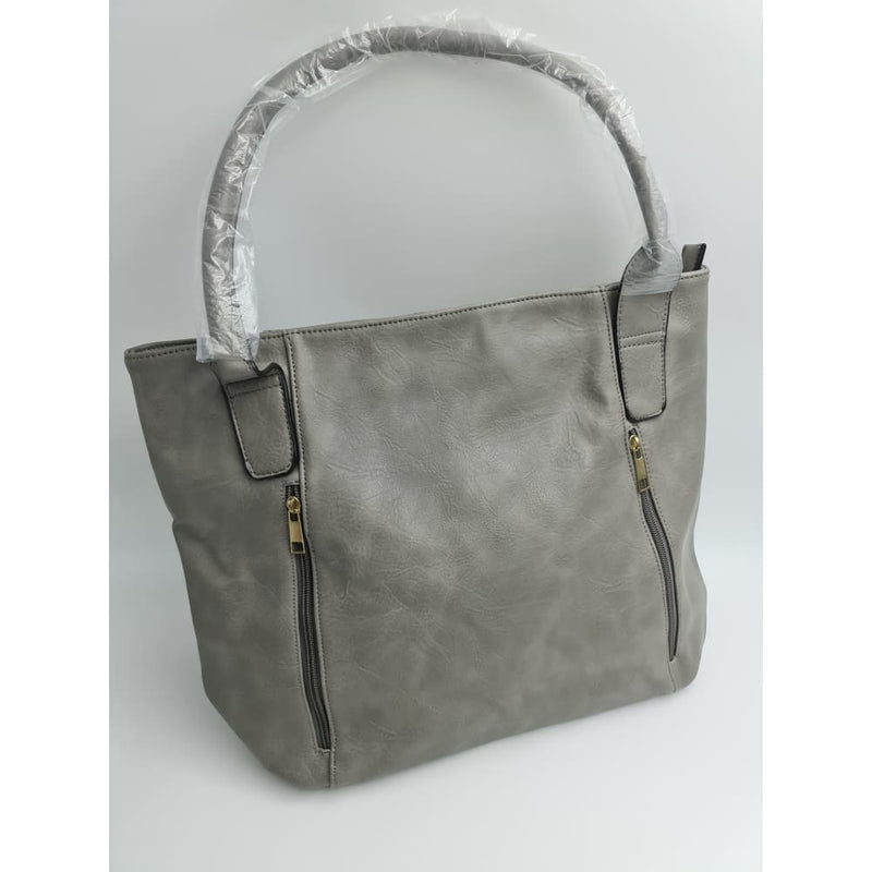 Ladies light grey hand bag - Safety Mo