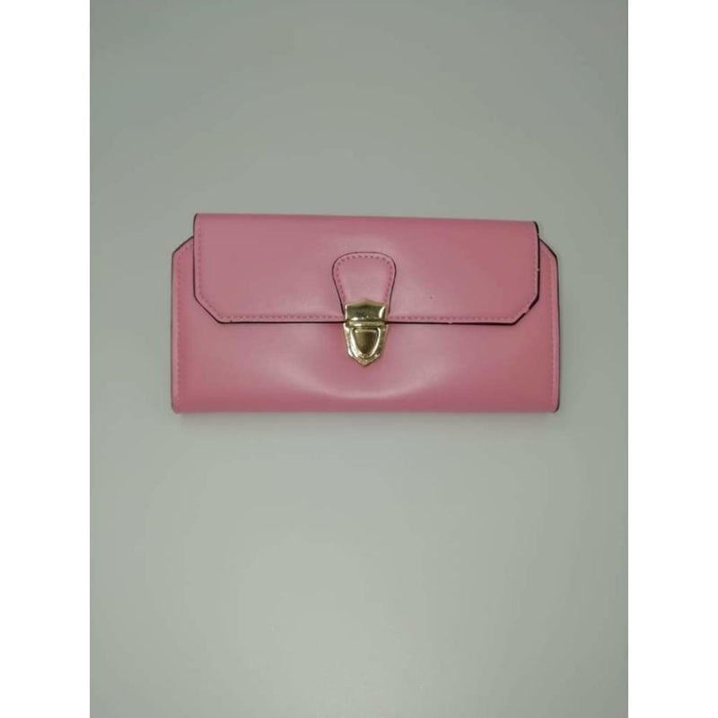 Ladies wallets Pink with Gold clasp - Safety Mo