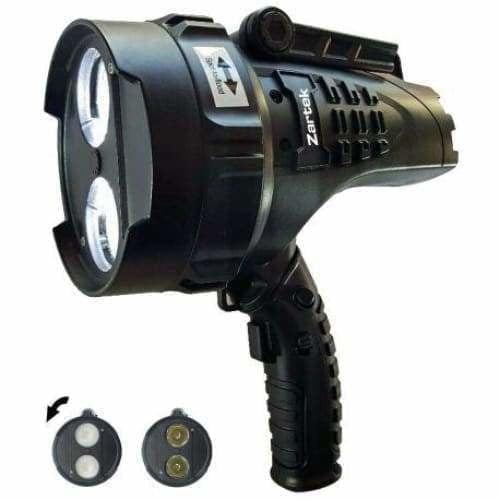Mega Bright Spotlight, 2 x XHP50 LED, 2200lm, Rechargeable, mains & vehicle charger Swivel Handle, - Safety Mo