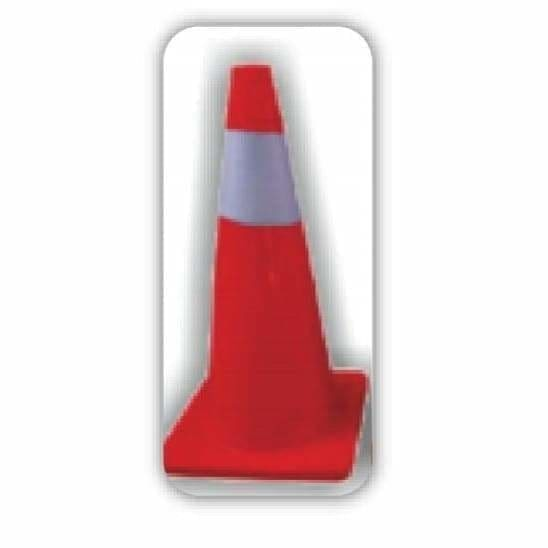 Orange Soft PVC Traffic Cone with Reflective Tape 700mm - Safety Mo