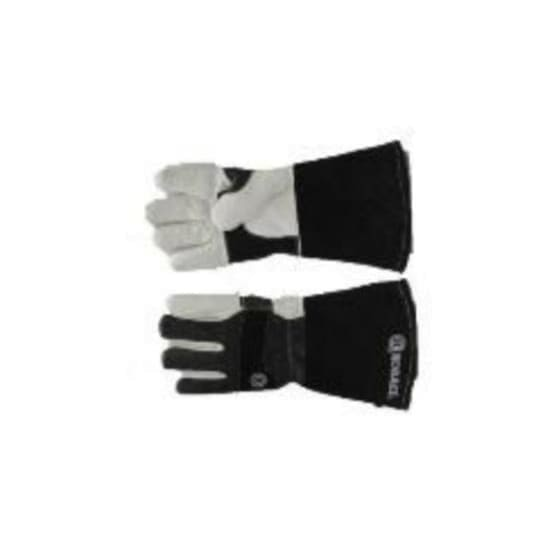 PIONEER TOUGH BLACK COWHIDE WITH WHITE GOATSKIN PALM KEVLAR
